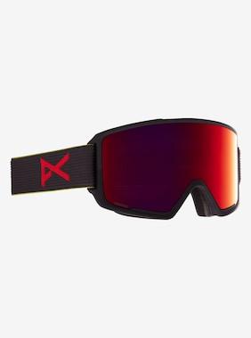 Men's Anon M3 Goggle + Bonus Lens - Asian Fit shown in Frame: Black Pop, Lens: PERCEIVE Sunny Red (14% / S3), Spare Lens: PERCEIVE Cloudy Burst (59% / S1)