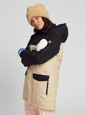 Women's Burton GORE‑TEX Eyris Jacket shown in True Black / Irish Cream