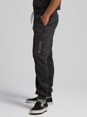 Men's Burton Oak Fleece Pant shown in True Black Heather