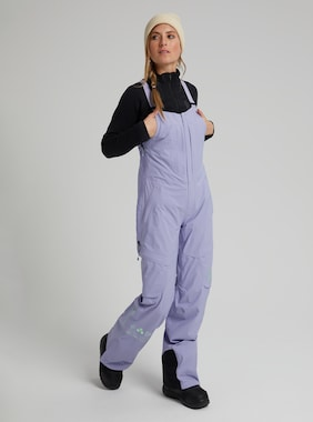 Women's Burton [ak] GORE-TEX 2L Kimmy Bib Pant shown in Foxglove Violet