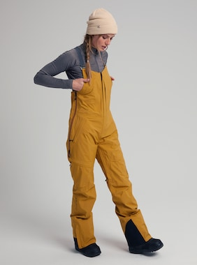 Women's Burton [ak] GORE-TEX 2L Kimmy Bib Pant shown in Wood Thrush