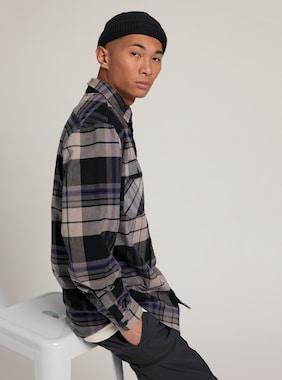 Men's Burton Brighton Premium Flannel shown in Iron Gray Chunk Plaid