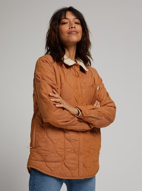 Women's Burton Grace Insulated Flannel shown in True Penny Denim