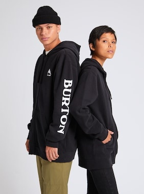 Burton Elite Full-Zip Hoodie shown in True Black