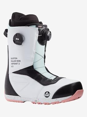 Men's Burton Ruler BOA® Snowboard Boot - Wide shown in White / Black / Multi