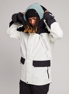 Men's Burton GORE-TEX Breach Jacket shown in Stowe White / True Black