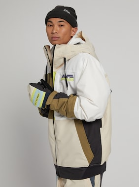 Burton Analog Greed Jacket shown in Creme Brulee / Martini Olive / Phantom / Stout White