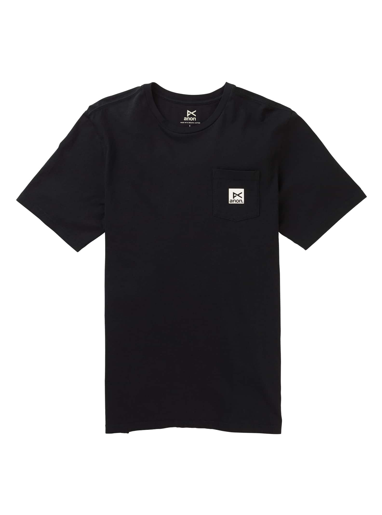 Anon kortärmad t-shirt med ficka, Black, XL