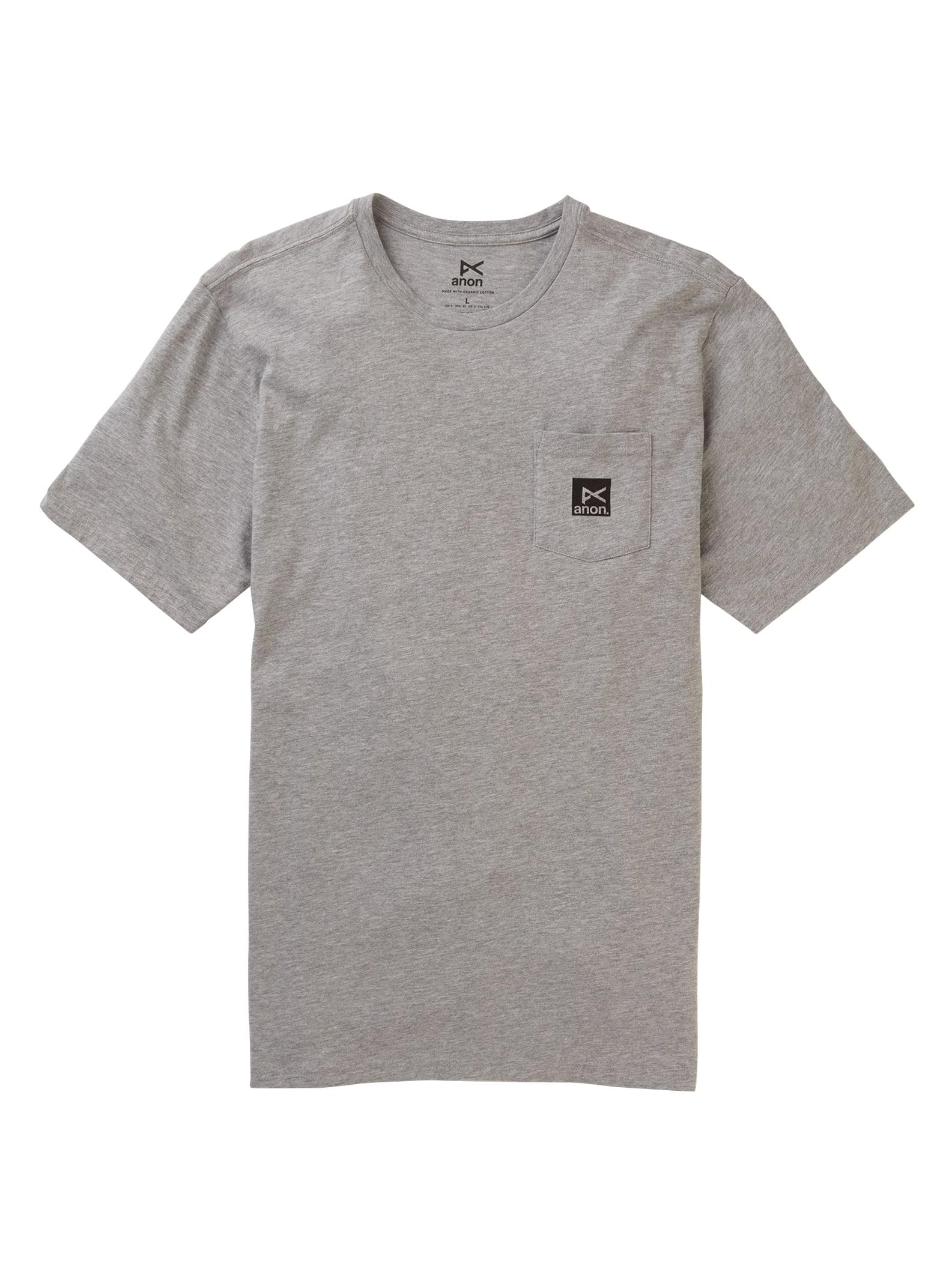 Anon kortärmad t-shirt med ficka, Gray Heather, S
