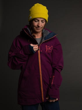 Women's Burton [ak] Kimmy GORE-TEX 3L Stretch Jacket shown in Wild Berry