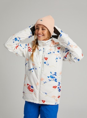 Women's Burton Tulum Stretch Jacket shown in Stout White Landscape Floral
