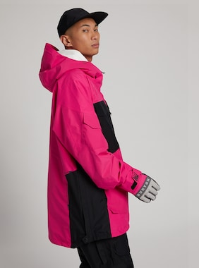 Men's Burton GORE-TEX Banshey Anorak Jacket shown in Punchy Pink / True Black