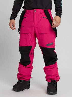 Men's Burton GORE-TEX Banshey Pant shown in Punchy Pink / True Black
