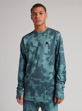 Burton - Ras du cou sous-vêtement Lightweight X homme en Dark Slate Resist Dye