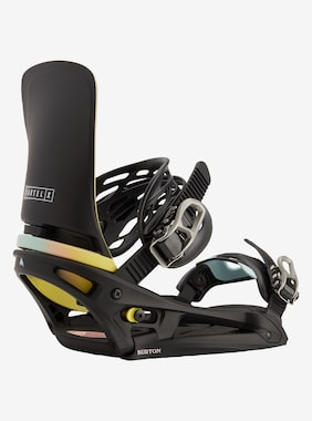 Men's Burton Cartel X EST Snowboard Binding shown in Black / Multi