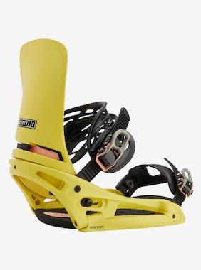 Men's Burton Cartel X EST Snowboard Binding shown in Yellow