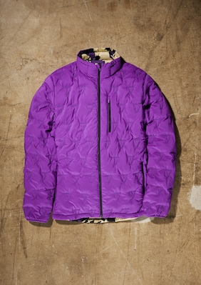 Merino-Lite Reversible Insulator shown in Purple Baffle / Desert Floral Camo