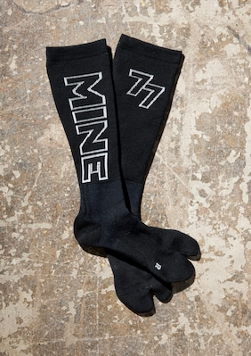 Compression Split-Toe Sock shown in Black