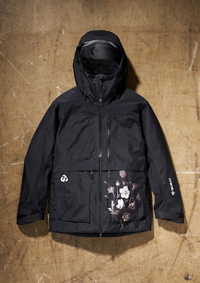 3L GORE-TEX Jacket shown in Black Floral