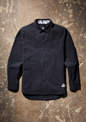 Water Resistant Snap Shirt shown in Black