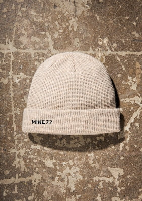 Mine77 Beanie shown in Dark Khaki