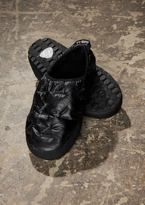 Puff Puff Slipper shown in Black Baffle