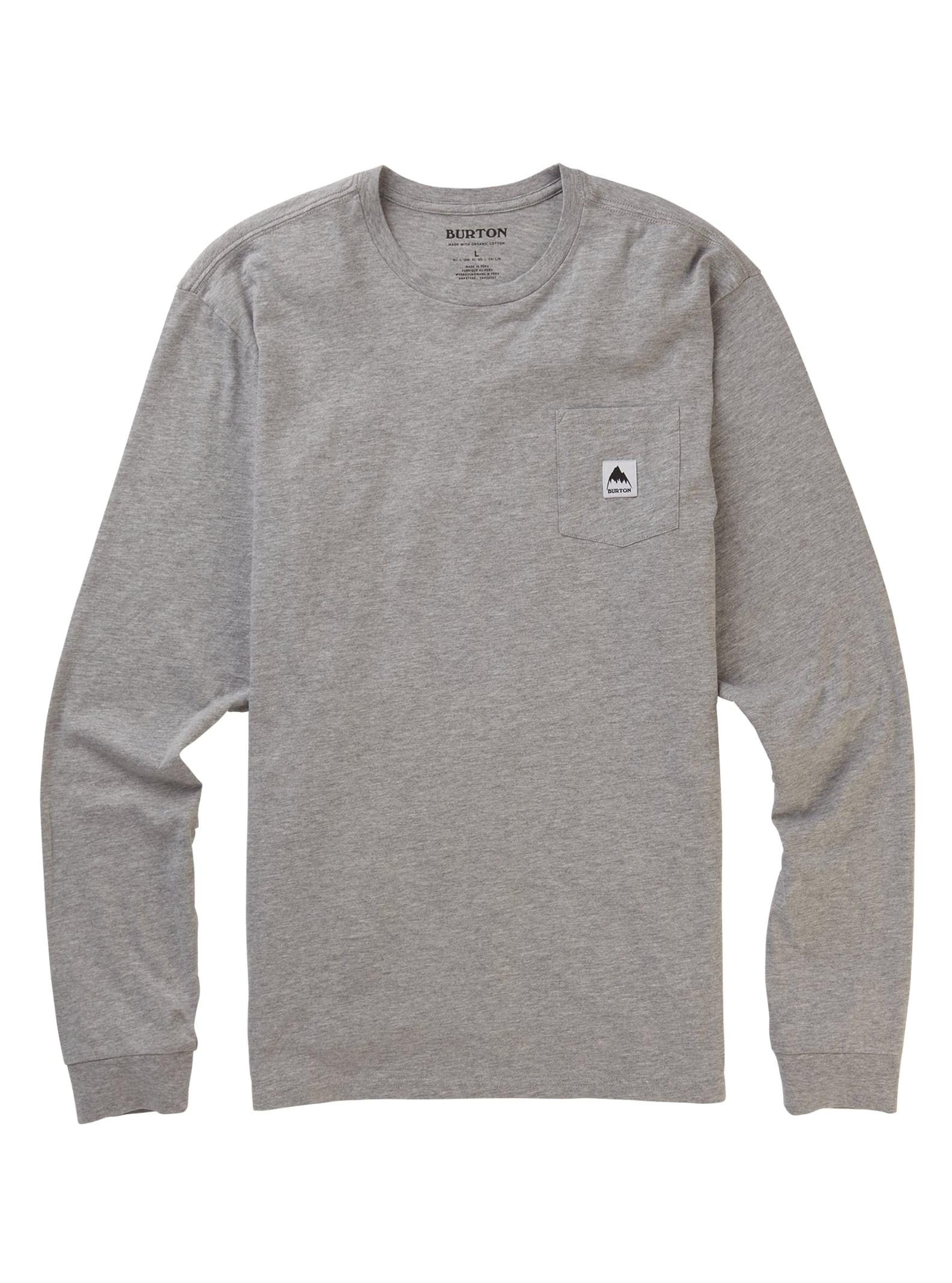 Burton Colfax långärmad t-shirt, Gray Heather, S
