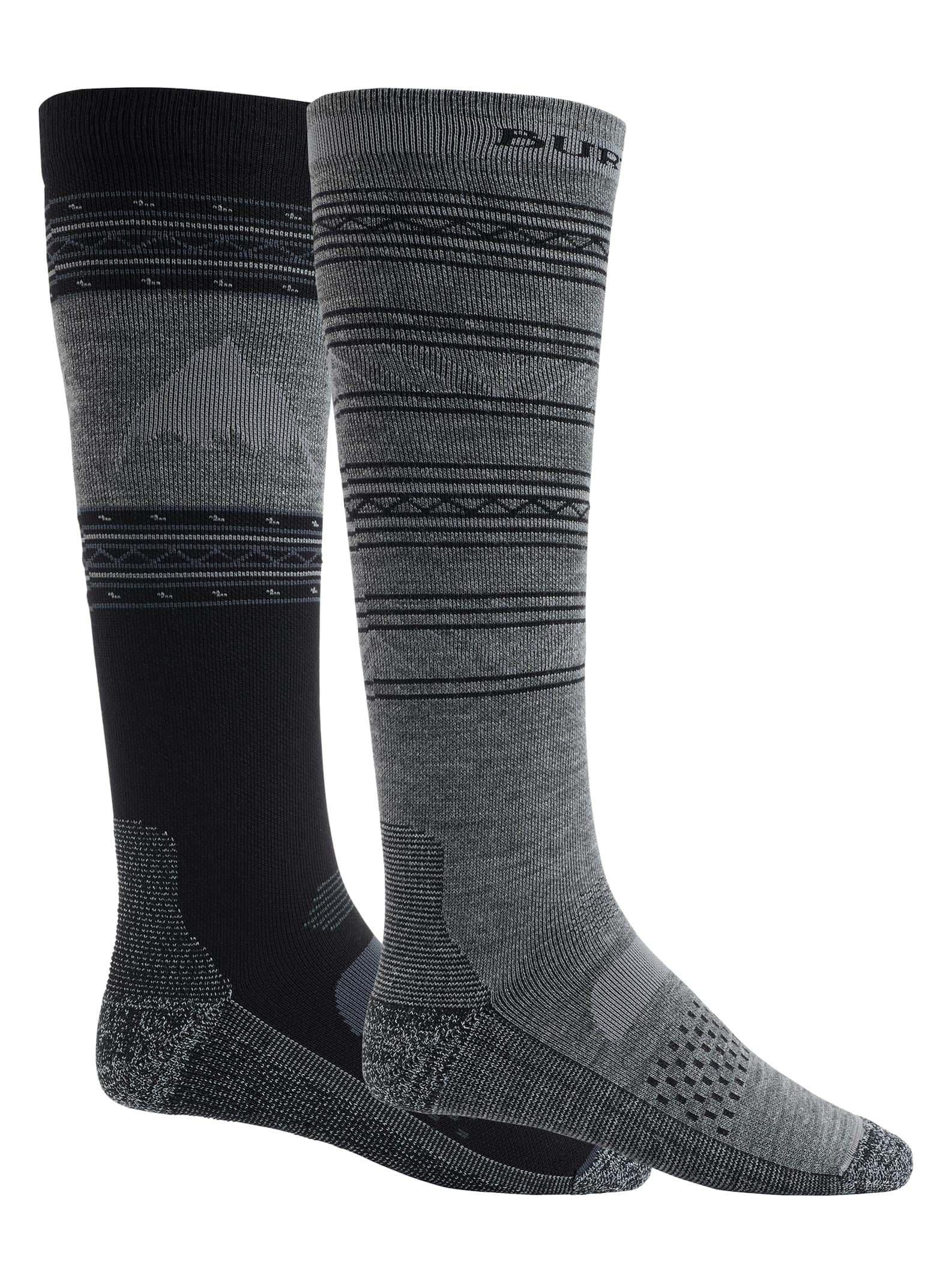 Men's Socks Burton Men's Performance Lightweight Sock 2-Pack, True Black, M